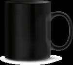 Tasse, schwarz (Laser)