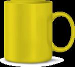 Tasse, gelb (Laser)