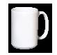 Kaffeepott, weiß (Laser)